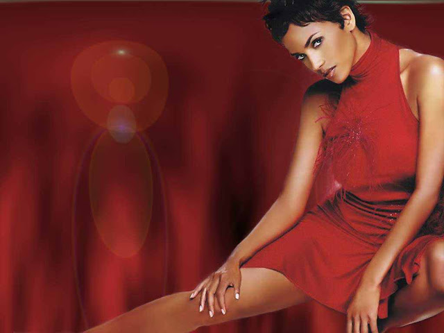 Halle Berry sexy with red dress