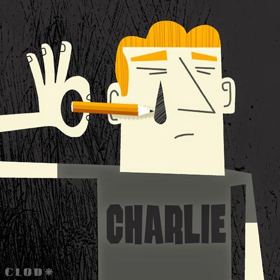 Clod illustration hommage Charlie Hebdo