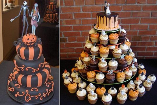 fall halloween wedding decoration cake cupcake toppers