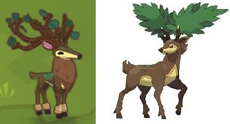 Image of: Play Wild On The Left Side Is The Outfit Made And On The Right Side Is The Example That Was Trying To Make The Deer On The Right Is Pokemon Named Animal Jam Hail Animal Jam Hail Branch Antlers