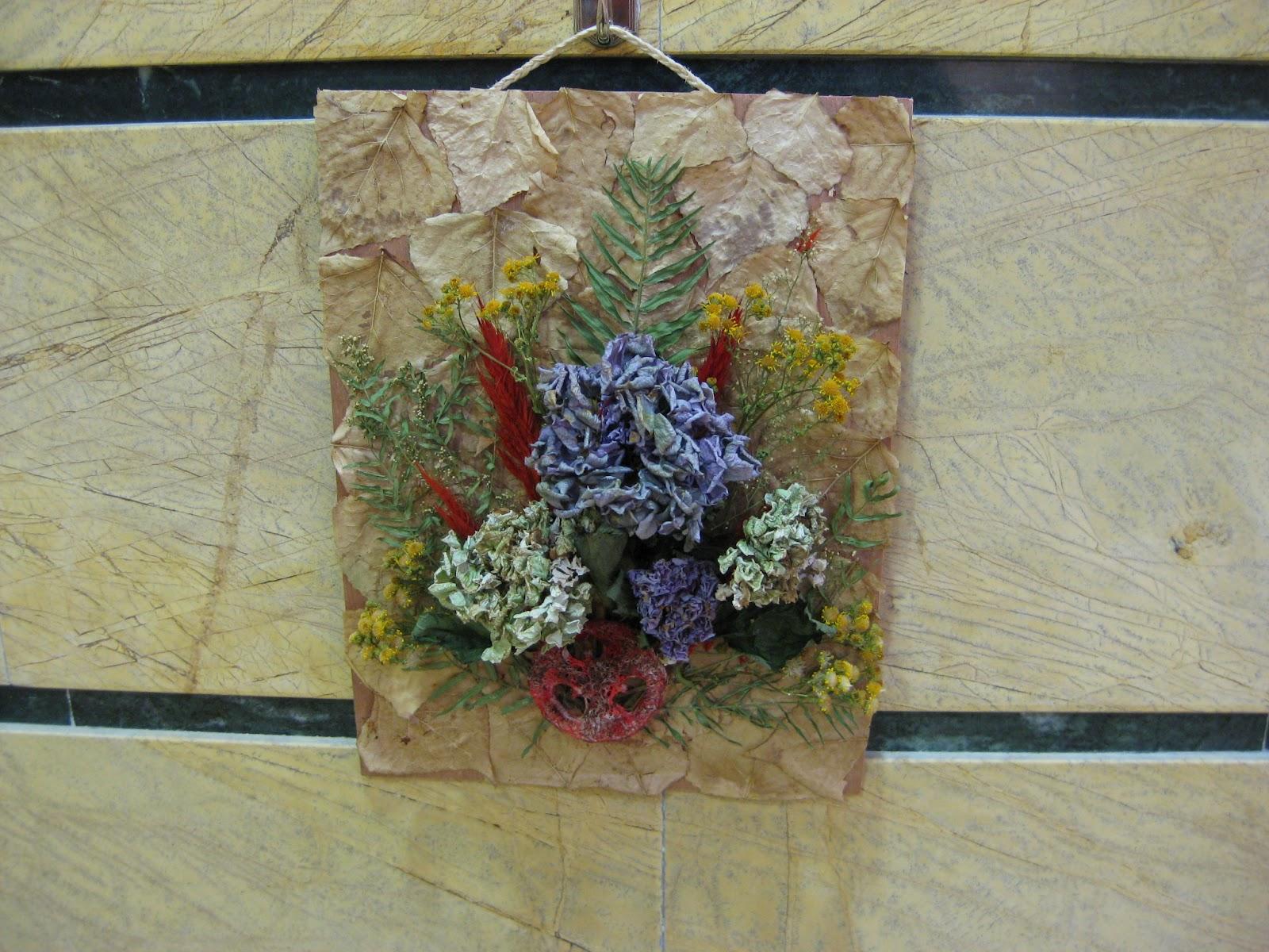 Con arte en las manos cuadros de flores secas - Cuadros con tela de saco ...
