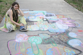 clementine willowilde side walk chalk art