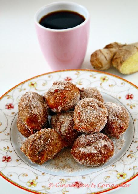 Coffee Ginger Doughnut Holes