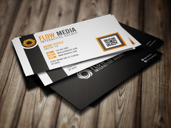 Free Flow Business Cards PSD