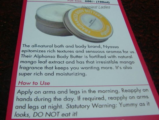 Nyassa Fragranced Alphonso Butter
