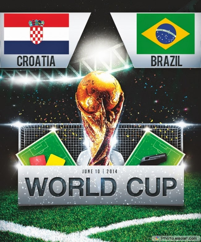 Fifa worldcup 2014 razil vs croatia hd poster download