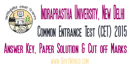 IPU CET Answer Key 2017