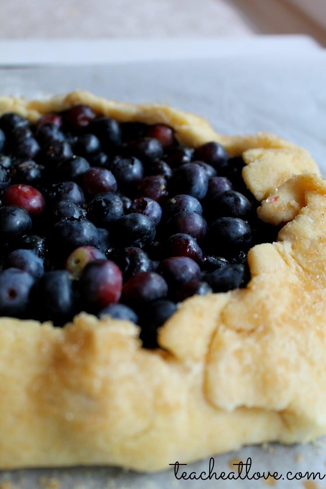blueberry galette cornmeal crust