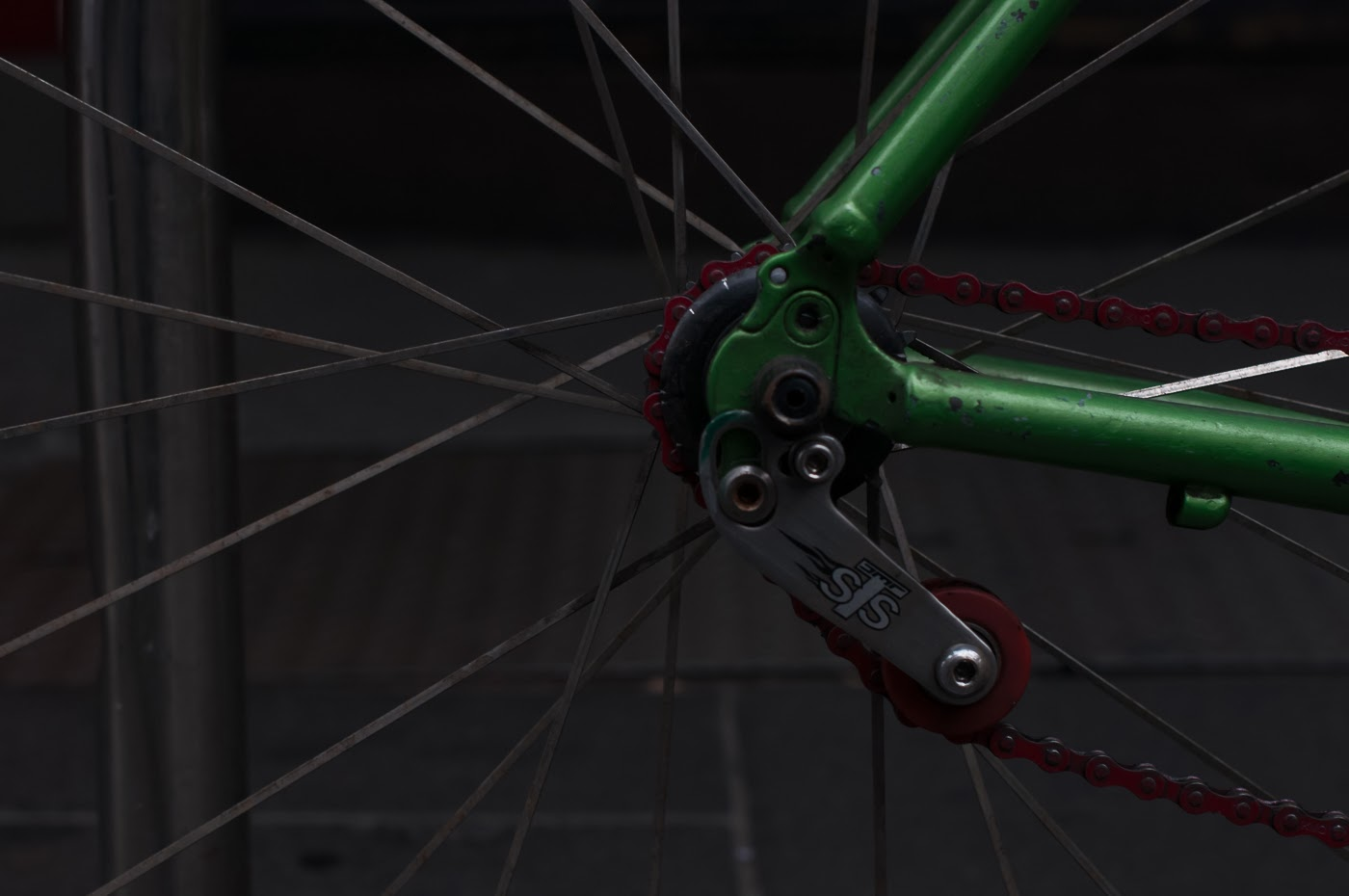 single speed, bike, bicycle, tim macauley, the biketorialist, melbourne, conversion, chain, tensioner road bik, mavic, propalm