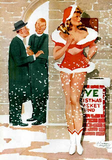 Funny Christmas Pinup Girls