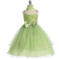 Vestidos de color verde manzana para ninas