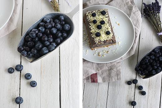 Sommerkuchen Heidelbeerkuchen Heidelbeereis Kühlschrank Gefrierfach Weiße Schokolade Holunderweg18