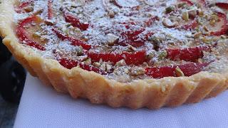 Tarta cu prune si crema frangipane ( migdale )