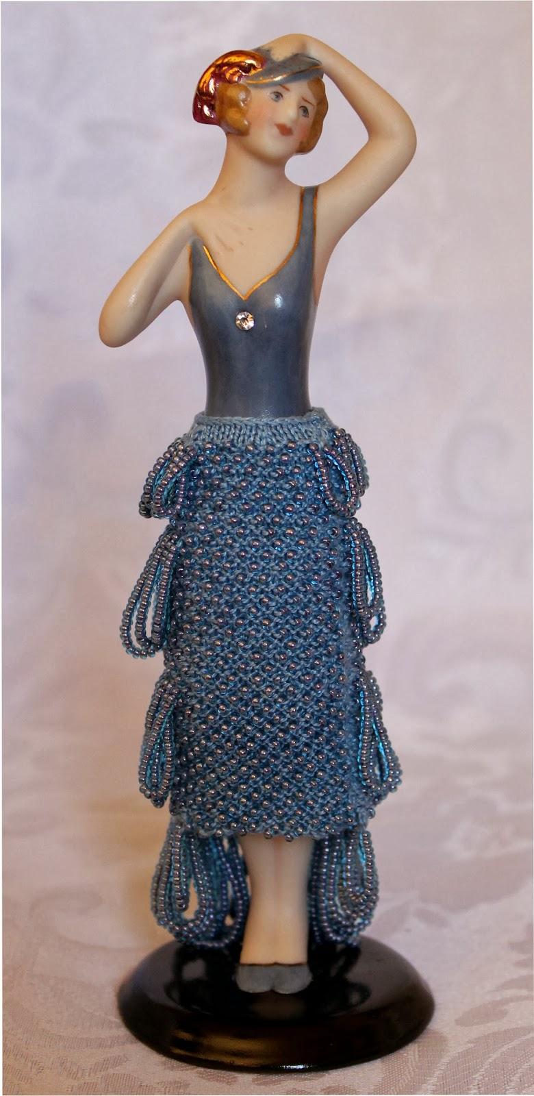 Beaded Knitting Patterns Half Dolls : Beading Belles: Beaded Skirt for Half Doll Sadie