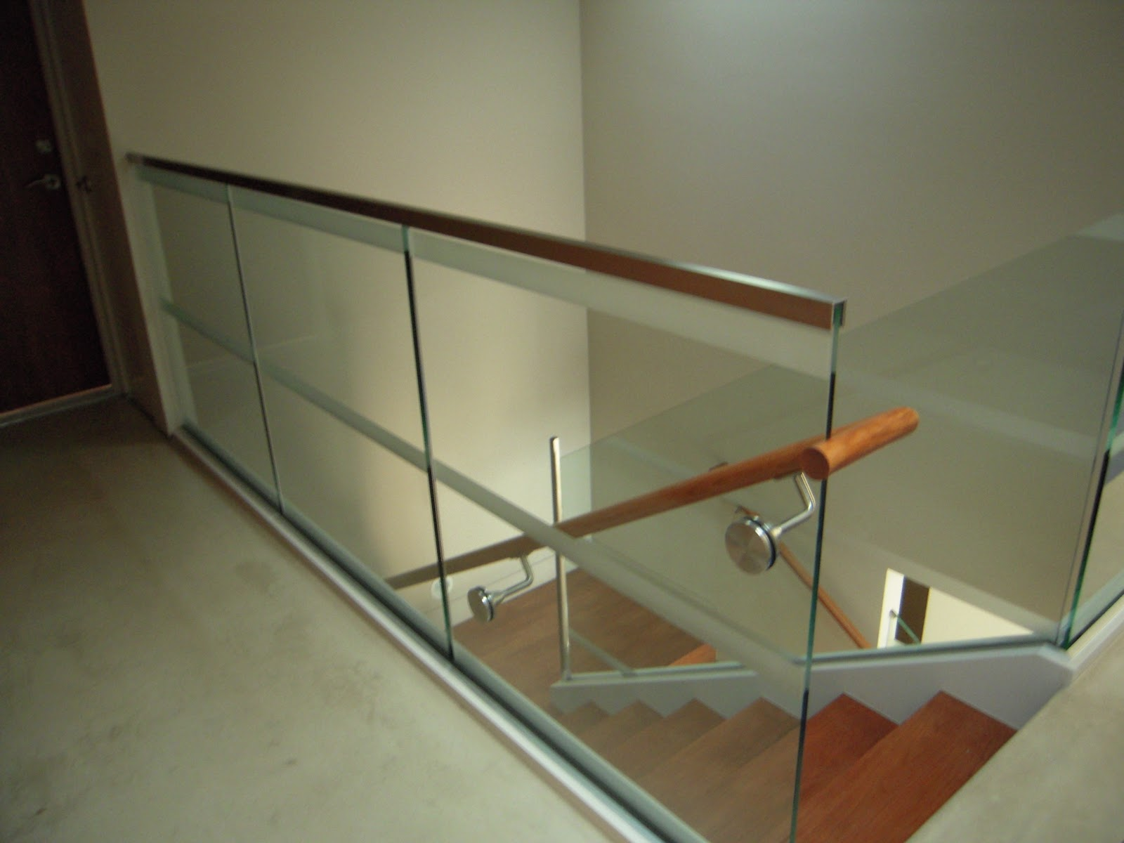 Glass Stair Rail With Glass Mount Railing Hardware Marin Glass And