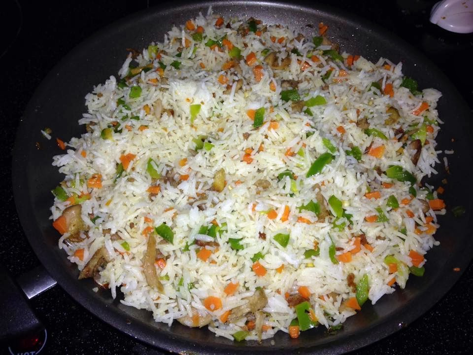 Spicy foood sujithas ginger chicken fried rice how suji makes her fried rice ccuart Image collections