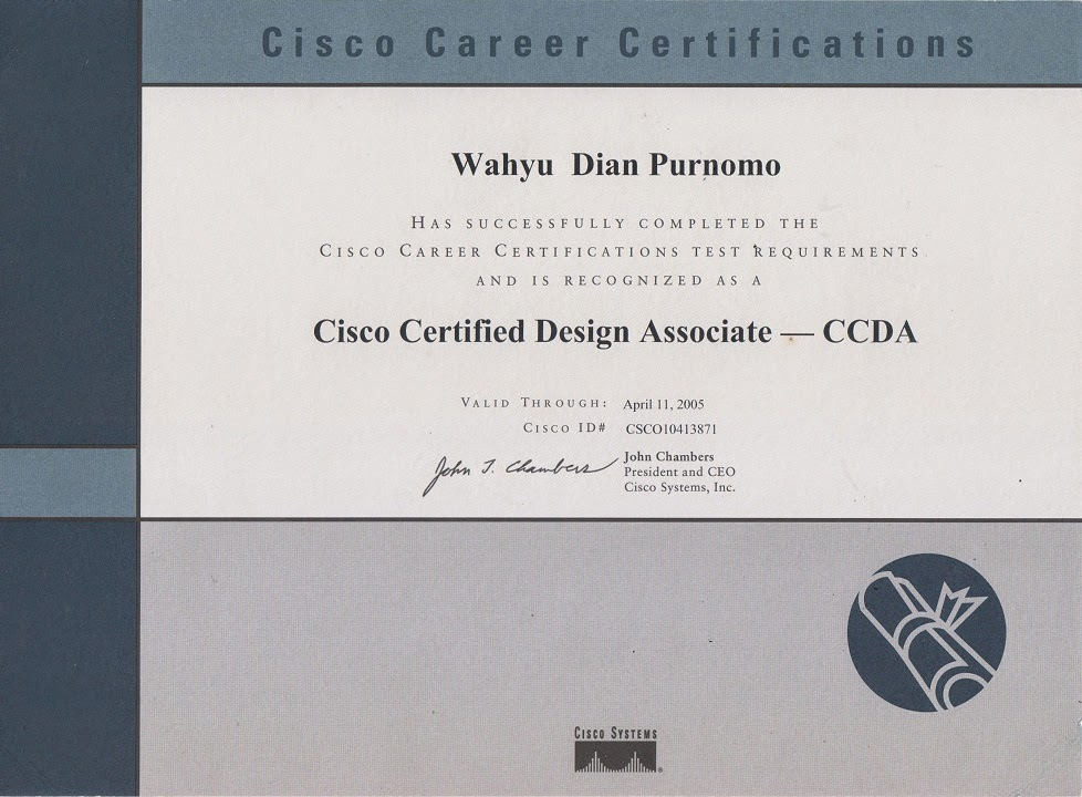 Cisco Certified Design Associated (CCDA), 2002