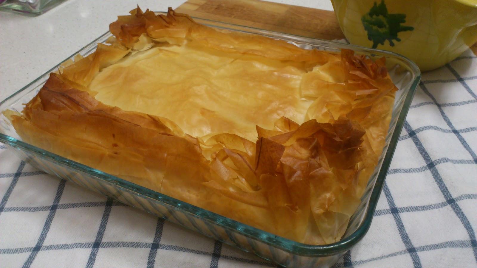 Con mis manos pastel salado de pasta filo - Que hacer con la pasta filo ...