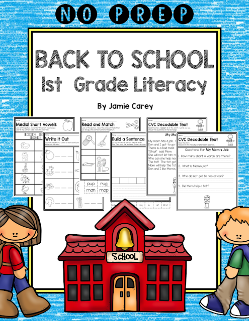 https://www.teacherspayteachers.com/Product/NO-PREP-Back-to-School-1st-Grade-Literacy-1925946