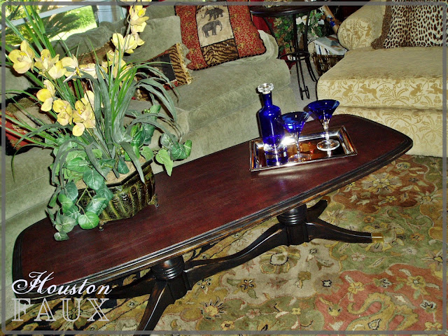 Faux painting furniture let mom know how much you love for Table 52 houston