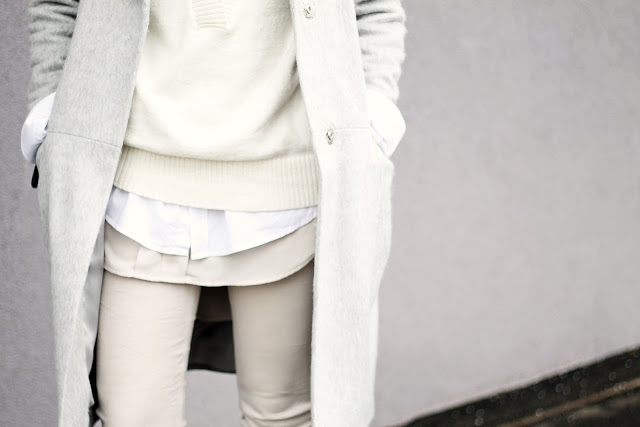 neutral winter layering