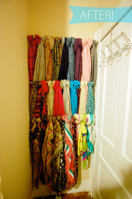appleshine scarf storage