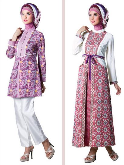 Gambar Baju Muslim Batik Modern