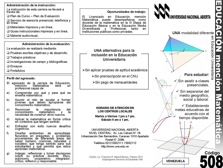 Educación mención Matemática