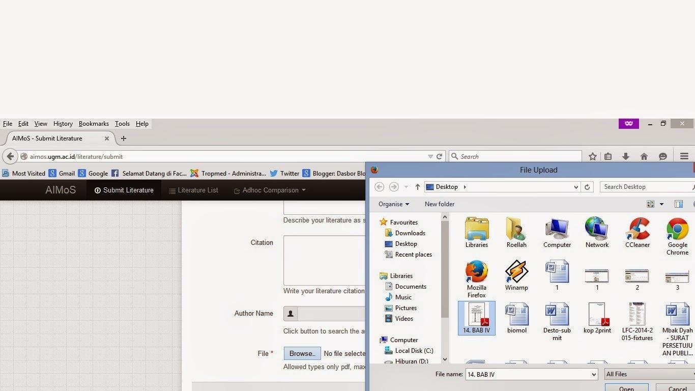 Mengupload file dalam bentuk PDF