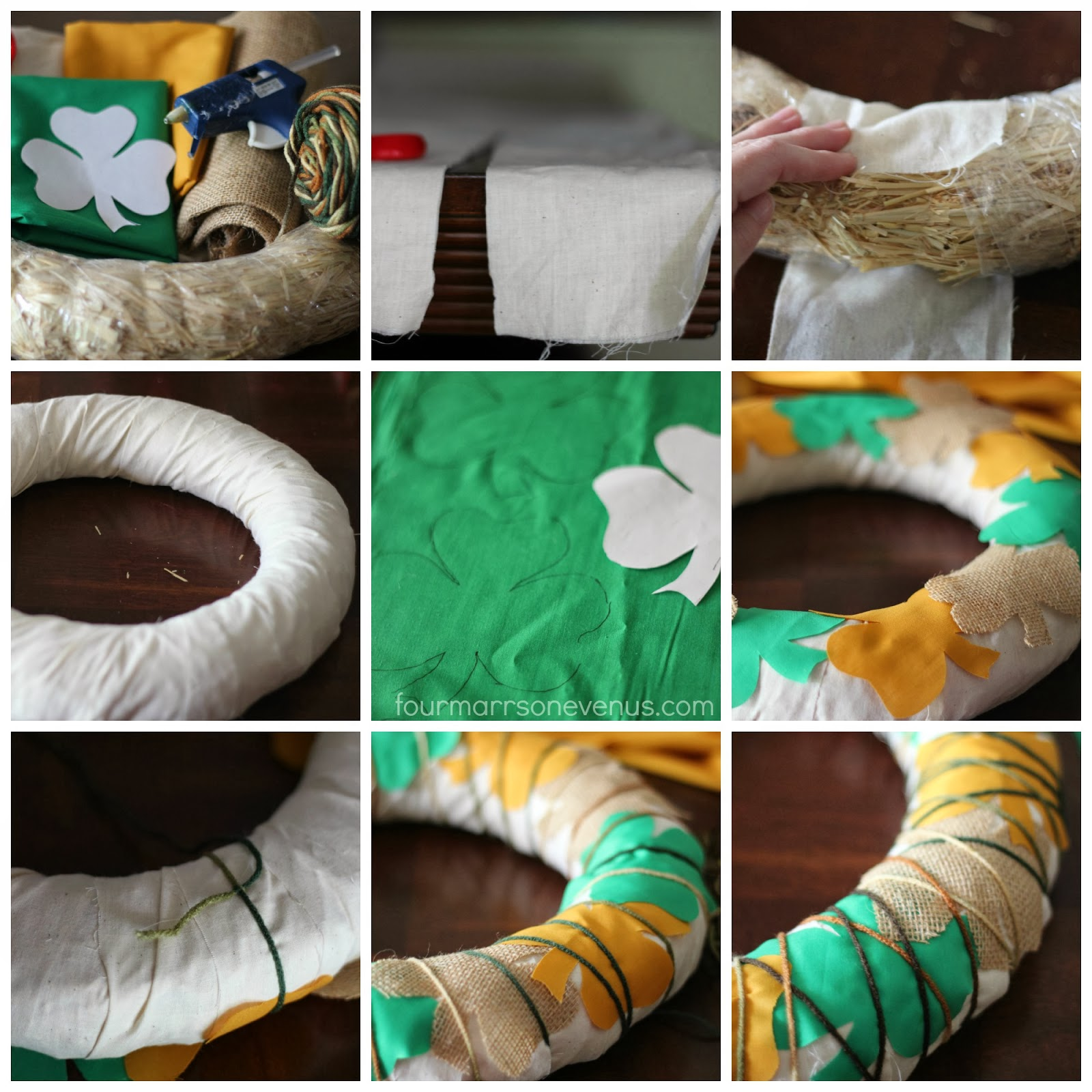 How to make an easy St. Patricks Day Wreath