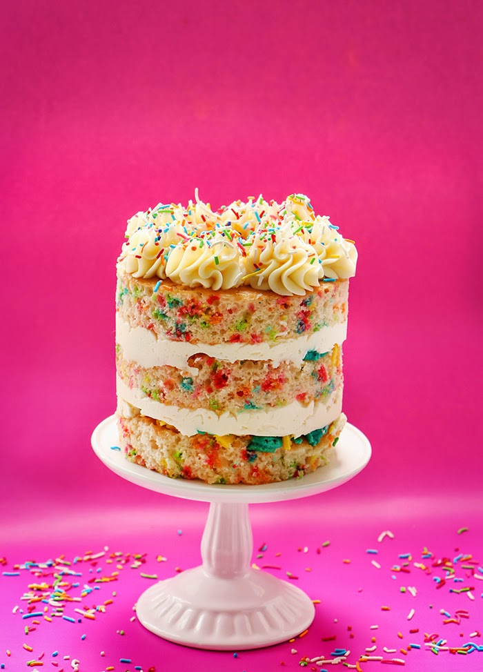 SECRETLY EXTRA SPECIAL VANILLA CAKE WITH CONFETTI