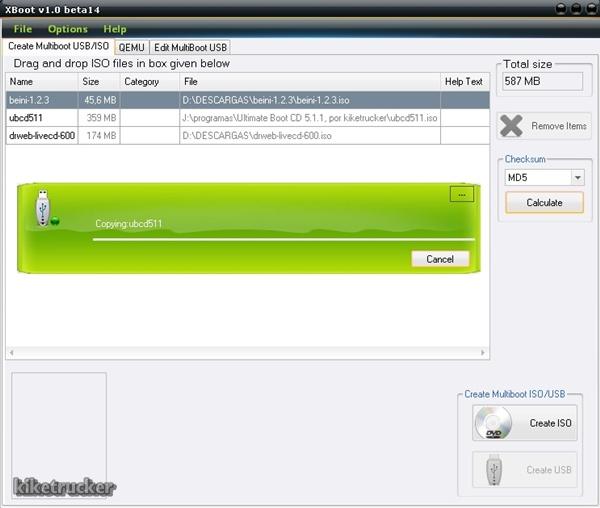 XBoot v1.0 beta 14 [Crea Unidades USB o DVD multiBooteables ...