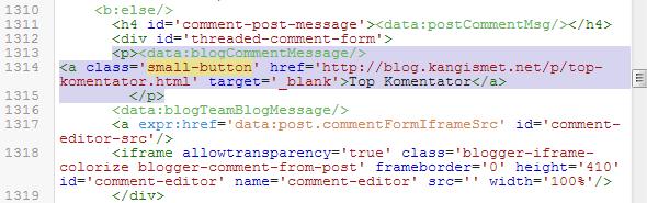 tombol pesan blogger
