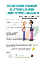 CUROS DE IGUALDAD Y PREVENCION DE LA VIOLENCIA DE GÉNERO A TRAVES DE VIVENCIAS EMOCIONALES