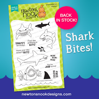 Shark Bites Stamp set by Newton's Nook Designs