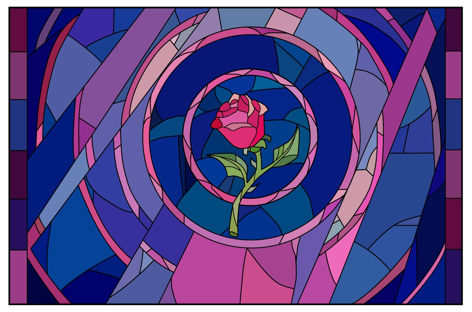 The Running Paintbrush: Beast's Enchanted Rose Beauty And The Beast Rose