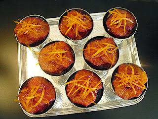 oranges aux épices douces