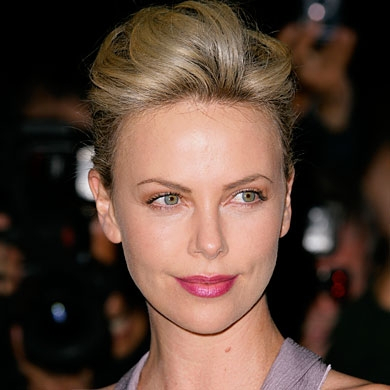 Charlize Theron Bouffant Up Do
