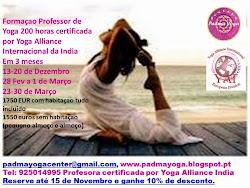 Formaçao em Instrutor ou Professor de Yoga no Algarve, Albufeira