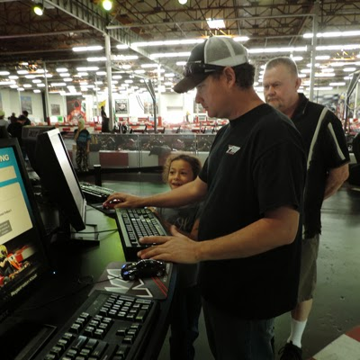 Just like real racing – K1 Speed's first stop is registration.