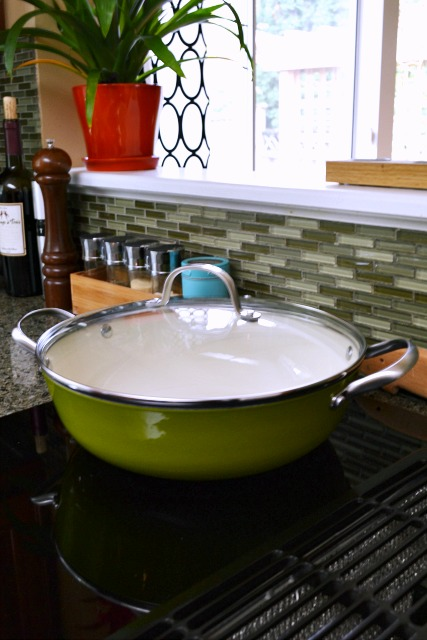 enamel cast iron braising pan
