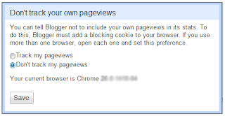 Stop Tracking Your Own Pageviews on Blogger Stats