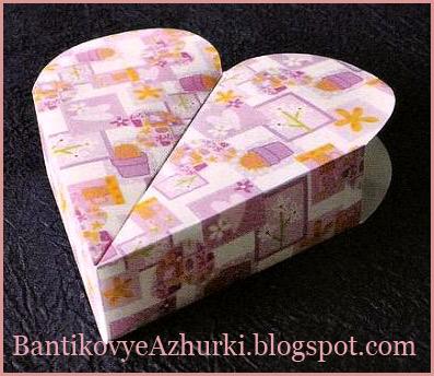 коробочка-сердечко своими руками