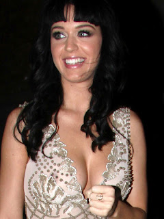 Katy Perry sexy cleavage in see through dress Nobu Restaurant nipple visible pokies