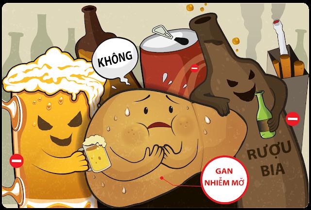 gan-nhiem-mo-do-su-dung-nhieu-ruou-bia