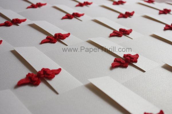 Modern asian chinese wedding invitation card