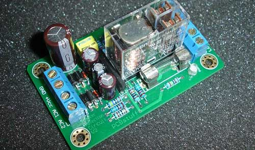 Speaker Protection Circuit only wiring and diagram protect loudspeaker from dc voltage with