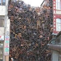 Stühle in Istanbul - Kunstinstallation