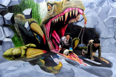 Китай: выставка объемной живописи