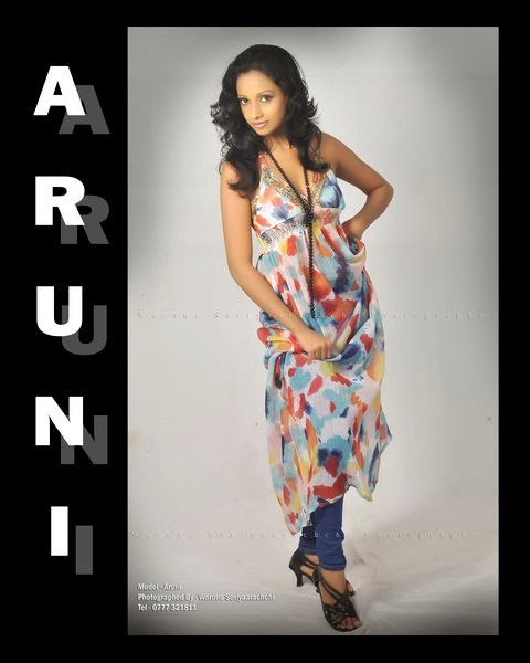 Sri Lankan Upcoming model Aruni hot spicy stills images